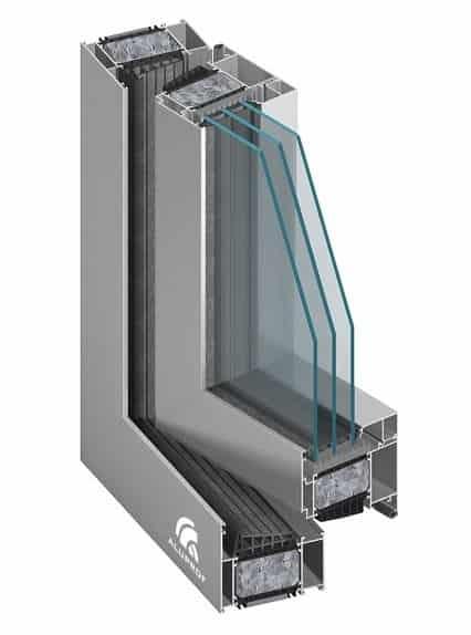 Aluminiumfönster passivfönster