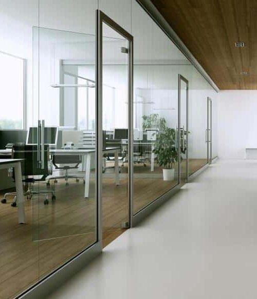 Glasvägg kontor