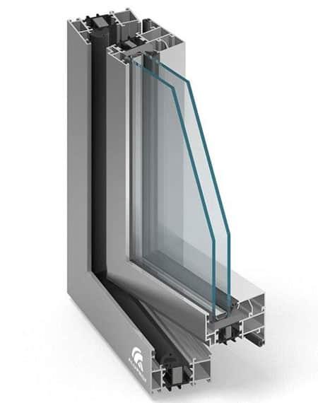 Aluminiumfönster MB70