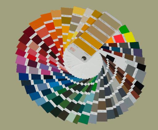 RAL färgskala