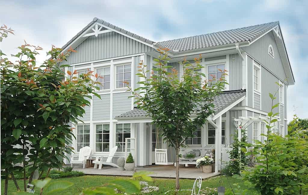 Hus med nya fönster